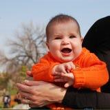 Het gelach van de baby Stock Afbeeldingen