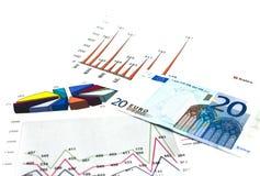 Het geld analyseert Royalty-vrije Stock Afbeeldingen