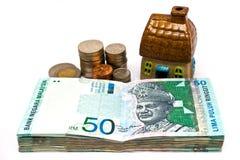 Het geld is Bezit stock afbeelding