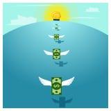 Het Geld en de Investering van het bedrijfsconceptenidee Stock Fotografie