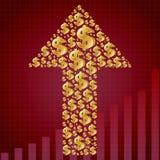 het geld groeit Stock Foto