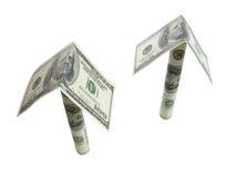 Het geld groeit als paddestoelen Stock Afbeeldingen