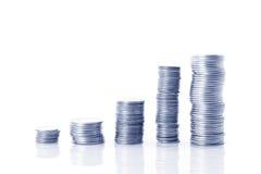 Het geld kweekt concept Stock Afbeeldingen