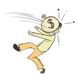 Het geld kwetst Stock Fotografie