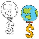 Het geld maakt de Wereld rond gaan Royalty-vrije Stock Foto