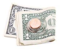 Het geld ontsproot twee stock foto's