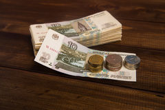 Het geld op de lijst stock afbeelding
