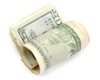 Het geld rolde drie Royalty-vrije Stock Fotografie