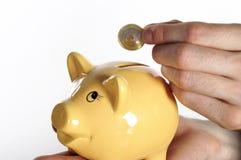 Het geld van de besparing Stock Foto