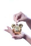 Het geld van de besparing royalty-vrije stock afbeeldingen