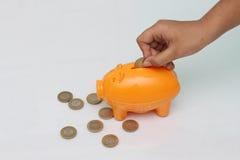 Het geld van de besparing Royalty-vrije Stock Foto