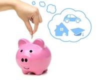 Het Geld van de besparing voor Toekomst Stock Afbeelding