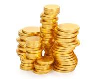 Het geld van de chocolade Stock Foto's