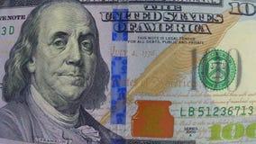 het geld van de 100 dollarrekening stock footage