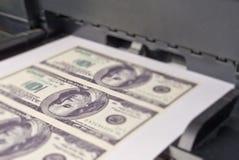 Het geld van de druk Stock Afbeelding