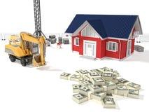 Het geld van de huisbehoefte Stock Foto