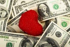 Het geld van de liefde Royalty-vrije Stock Afbeelding