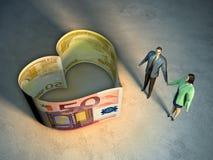 Het geld van de liefde vector illustratie