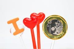 Het geld van de liefde Royalty-vrije Stock Fotografie