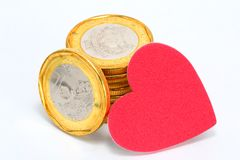 Het geld van de liefde Royalty-vrije Stock Foto