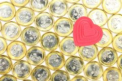 Het geld van de liefde Stock Foto's