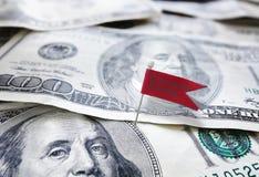 Het geld van de pensioneringsvlag Stock Afbeelding