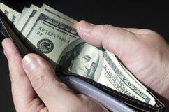 Het Geld van de portefeuille Stock Foto