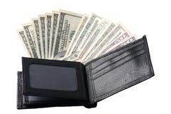 Het geld van de portefeuille royalty-vrije stock afbeelding