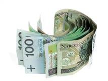 Het geld van de rol stock foto's