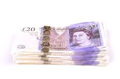 Het geld van de stapel Royalty-vrije Stock Foto's