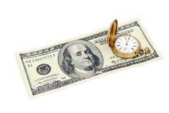 Het geld van de tijd Royalty-vrije Stock Foto