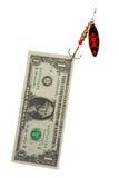 Het geld van de vangst royalty-vrije stock afbeeldingen