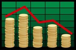 Het geld van de voorraad Stock Afbeeldingen