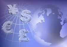 Het geld van de wereld Stock Afbeeldingen