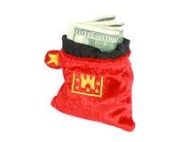 Het geld van de zak Royalty-vrije Stock Afbeelding