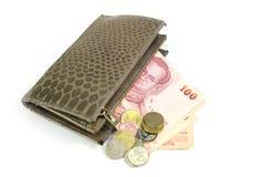 Het geld van de zakportefeuille Royalty-vrije Stock Afbeeldingen