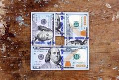 Het geld van dollarrekeningen Stock Afbeelding
