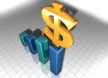 Het geld van Growning Stock Foto's