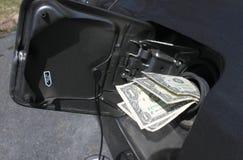 Het geld van het gas Stock Afbeeldingen