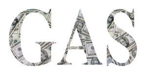 Het geld van het gas Royalty-vrije Stock Foto