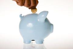 Het Geld van het spaarvarken royalty-vrije stock afbeeldingen