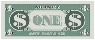 Het geld van het spel - één dollarrekening vector illustratie