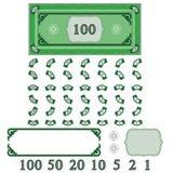 Het geld van het spel (maak uw geld plaatsen) stock illustratie