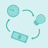 Het Geld van het tijdidee royalty-vrije illustratie