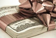 Het geld van Kerstmis Royalty-vrije Stock Afbeeldingen