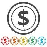 Het geld zet pictogram om royalty-vrije illustratie