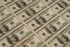 Het geldachtergrond van het dollarbankbiljet Royalty-vrije Stock Afbeeldingen
