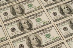 Het geldachtergrond van het dollarbankbiljet Royalty-vrije Stock Fotografie