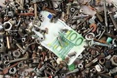 Het geldconcept van de zware industrie Stock Foto's