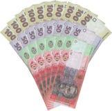 het geldnota's van de Oekraïne Royalty-vrije Stock Foto